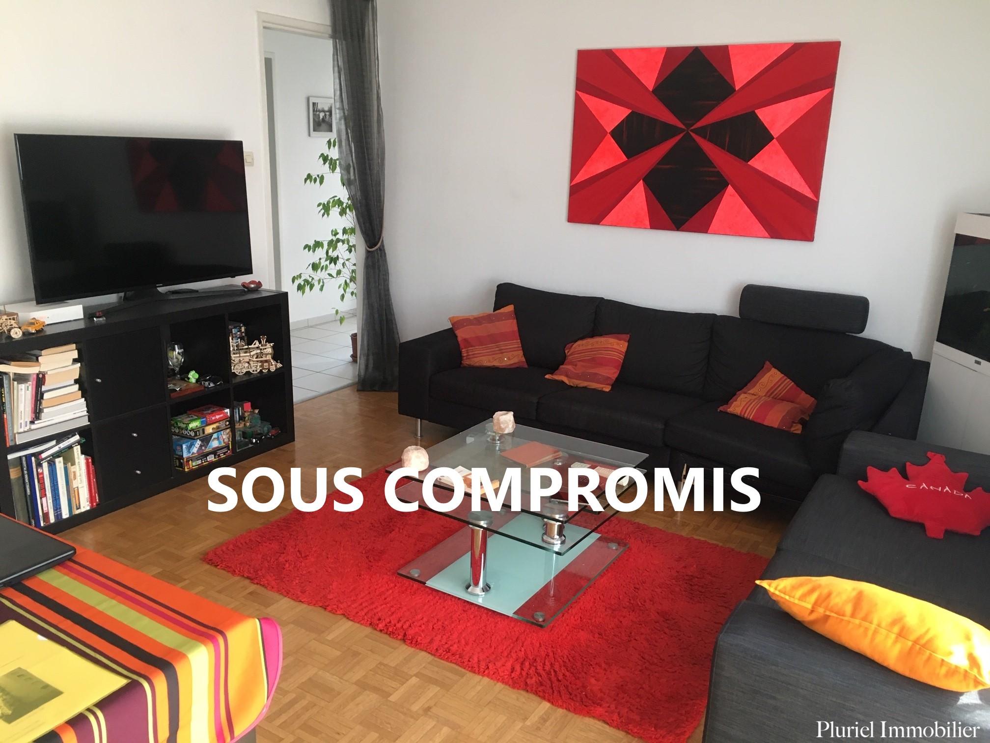 Sous compromis – Cronenbourg, Spacieux 3 pièces de 74 m2, balcon, ascenseur.